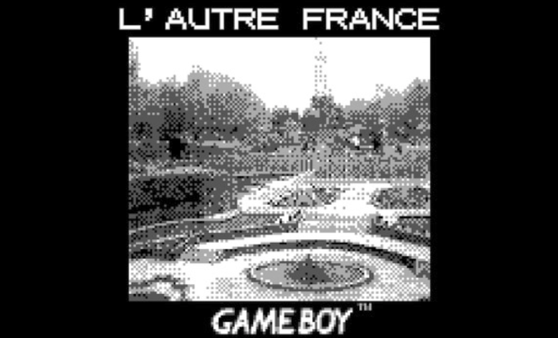 Project visual L'AUTRE FRANCE, un Game Boy à France Miniature