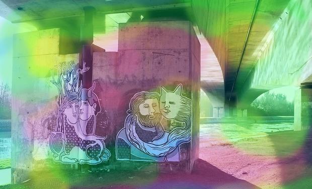 Visuel du projet Des collages urbains en couleur