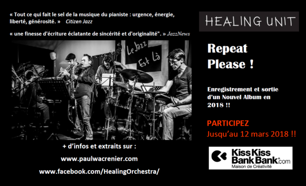 "Visuel du projet Healing Unit: ""Repeat Please!"" Nouvel Album en 2018!!"