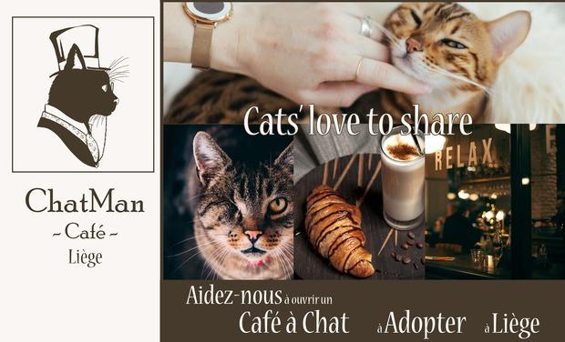 Visuel du projet Café à chats en Liège :  Le ChatMan Café