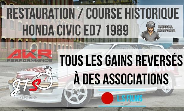 Project visual Restauration Honda Civic 1989, pour évènement sportif automobile historique