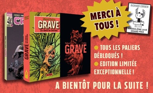 Project visual GRAVE de RICHARD CORBEN! Edition Limitée!