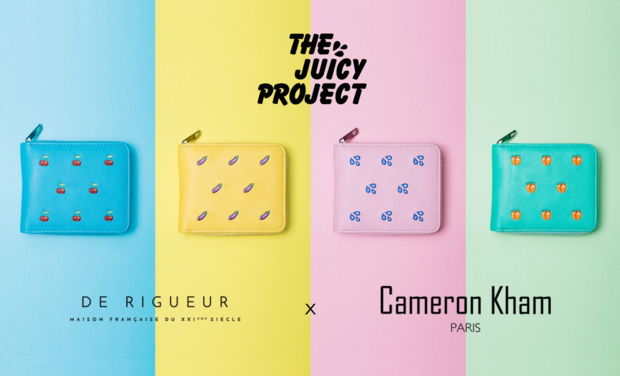 Project visual The Juicy Project : portefeuilles chargeurs funs, vegans et solidaires