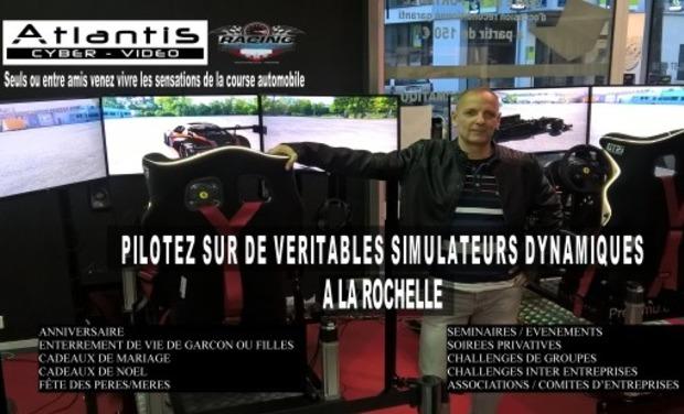 Visueel van project Atlantis Simulateur -  salle de Simulation de course auto sur vérins Dynamique
