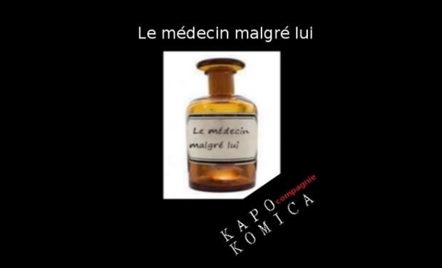 """Visueel van project """"Le médecin malgré lui"""" de Molière par kapo komica"""