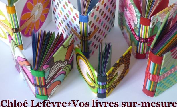 Visueel van project Chloé Lefèvre, Vos livres sur-mesure