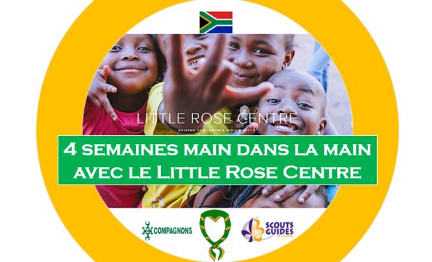 Project visual 4 semaines main dans la main avec le Centre Little Rose