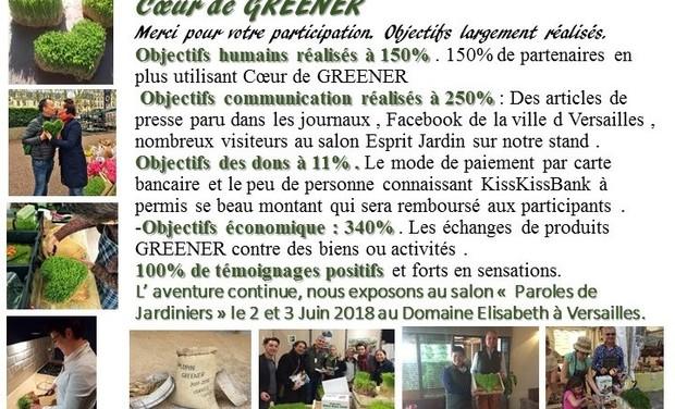 Visuel du projet Coeur de GREENER : Invitation à Versailles pour le bien-être et partage.