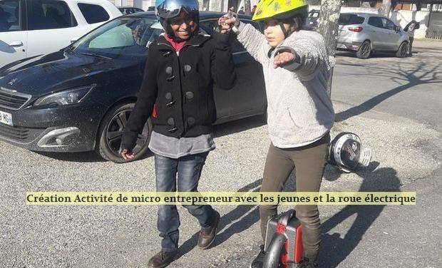 Visueel van project Création Activité de Micro entrepreneur avec les jeunes et la roue électrique