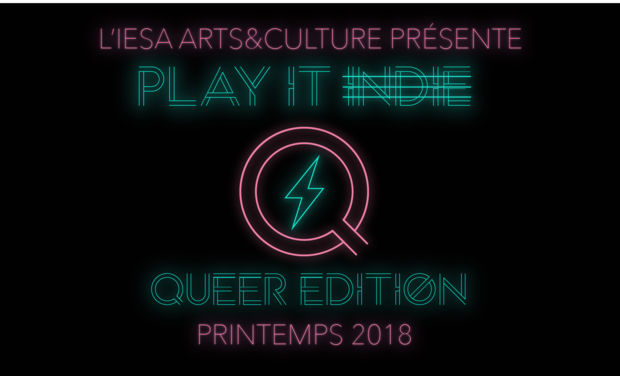 Visuel du projet Tremplin IESA - Play It Indie - Édition Queer