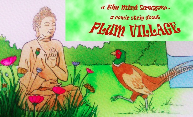 "Visuel du projet "" The Mind Dragon"", a comic strip about Plum Village"