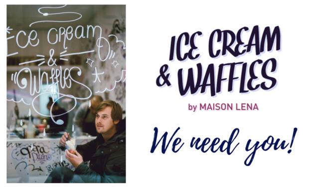 Visuel du projet Maison Léna, Ice cream & waffles.
