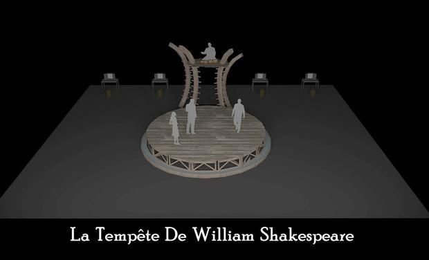 Project visual Soutien à la Création de la Tempête de William Shakespeare