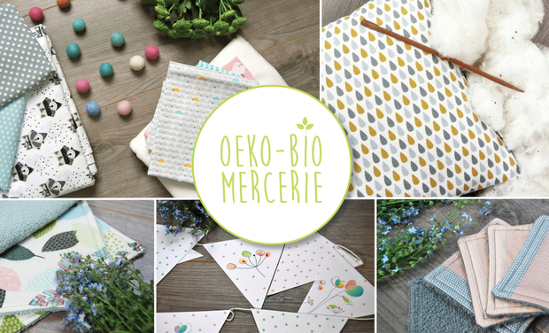 Project visual Oeko-Bio-Mercerie : Tissus biologiques et oeko-tex