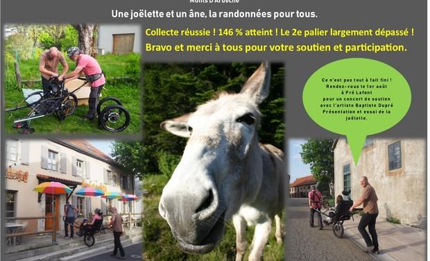 Visuel du projet Une joëlette, un âne : la rando accessible à tous !