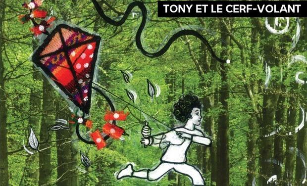 """Visuel du projet """" Tony et le cerf-volant """" un conte métaphorique pour imaginer un autre monde"""