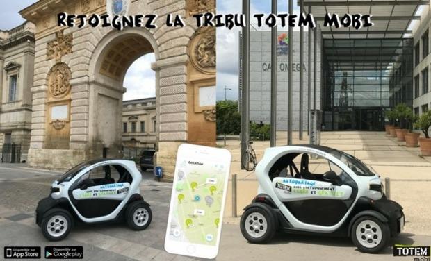 Visuel du projet TOTEM Montpellier : l'autopartage électrique avec stationnement libre et gratuit