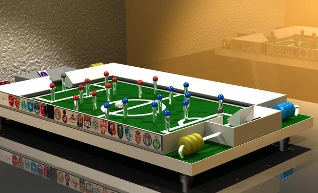 Visuel du projet FINGERBALL un jeu d'adresse et tactique