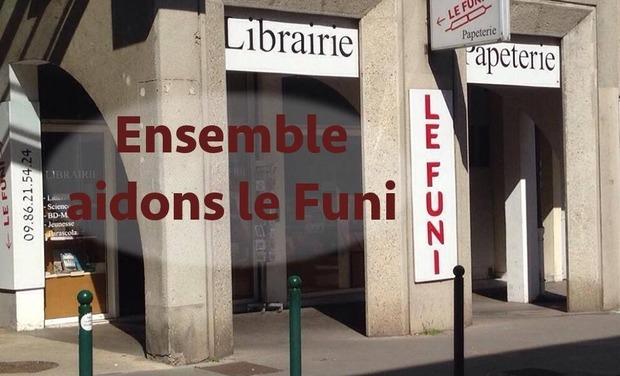 Visuel du projet Soutien à l'existence de la librairie LE FUNI à Lyon !