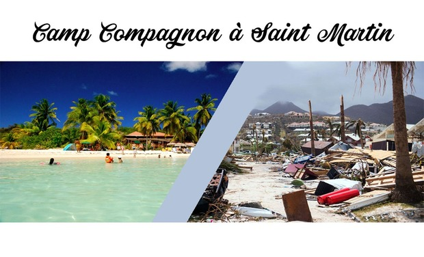 Visueel van project Camp solidarité à l'île de Saint Martin