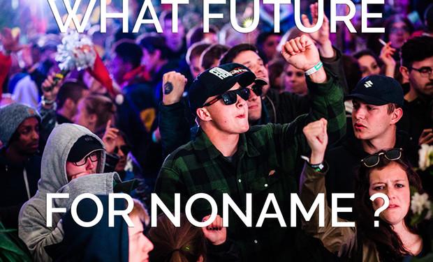Visueel van project NoName Festival, to the future !