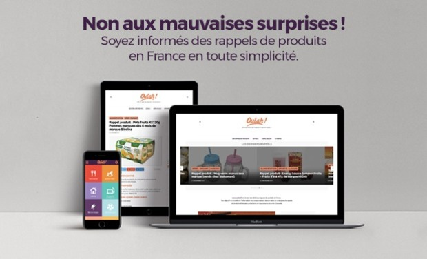 Project visual Oulah ! l'application dédiée aux rappels de produits en France.