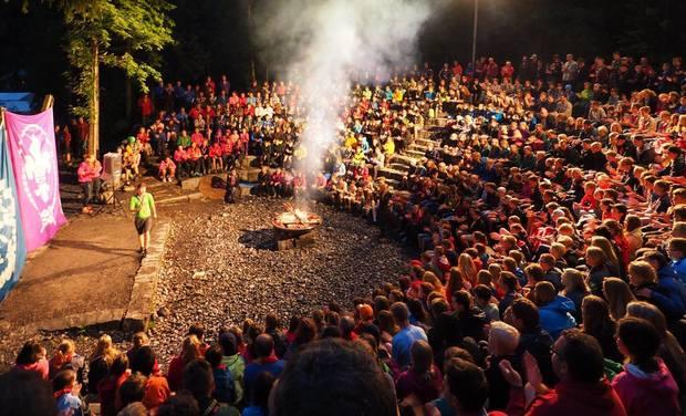 Project visual Scouts et Guides de Gradignan: renontre à Kandersteg suisse.