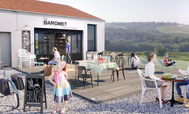 Project visual Epicerie-café Le Baromet : rural, local, éco-convivial