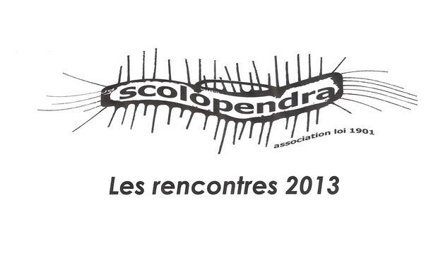 Visueel van project Les Rencontres Scolopendra 2013