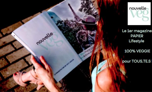 Project visual Nouvelle Veg, le 1er magazine papier 100% veggie !
