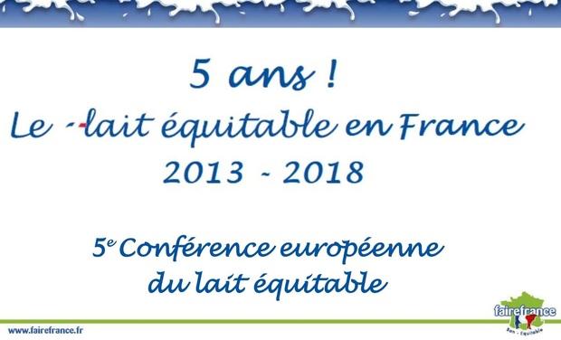 Visuel du projet 5e Conférence Européenne du lait équitable