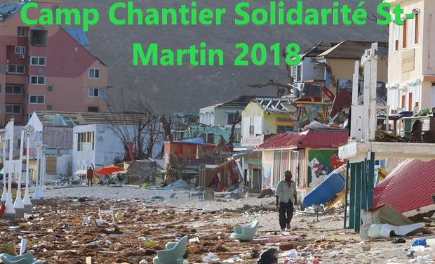 Visuel du projet Matthieu Biscaye participe au Camp Chantier Solidarité Saint-Martin 2018