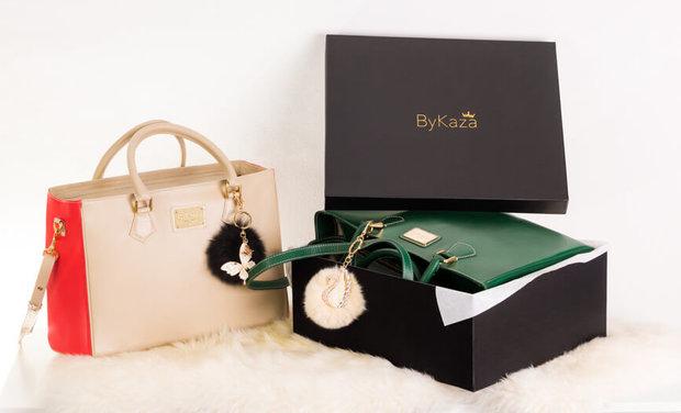Visueel van project ByKaza, sacs à main en cuir et accessoires personnalisés.