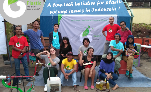 Project visual GetPlastic's kick-off campaign: No plastic goes to waste in Indonesia