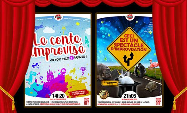 Visuel du projet Festival Off d'Avignon 2018 - Spectacles d'impro pour petits et grands