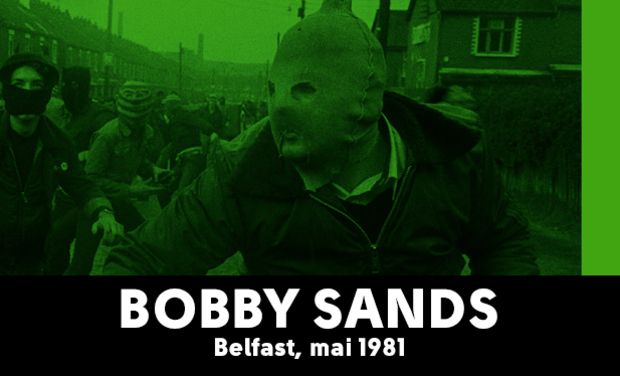 Project visual Bobby Sands / Belfast, mai 1981 / Yan Morvan