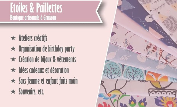 Project visual Création de la boutique Étoiles & Paillettes