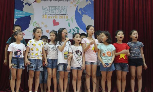 Project visual Aidez les  enfants du primaire Cua Nam à apprendre le français