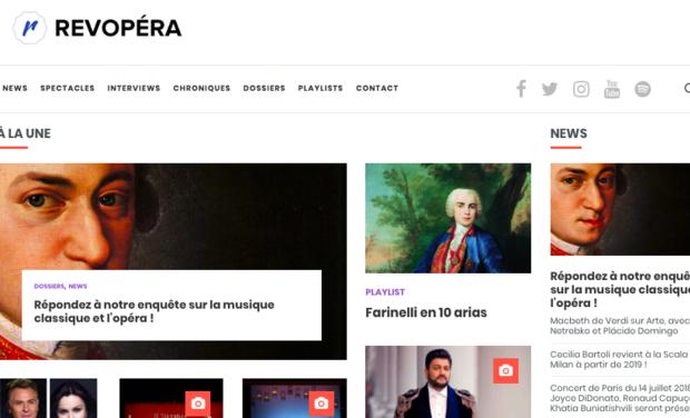 Visuel du projet Revopera.com (opéra et musique classique) : aidez-nous à nous développer !