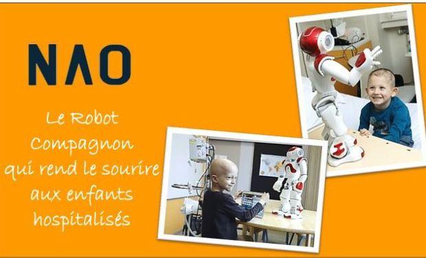 Project visual NAO, le robot-compagnon au chevet des enfants atteints de cancer