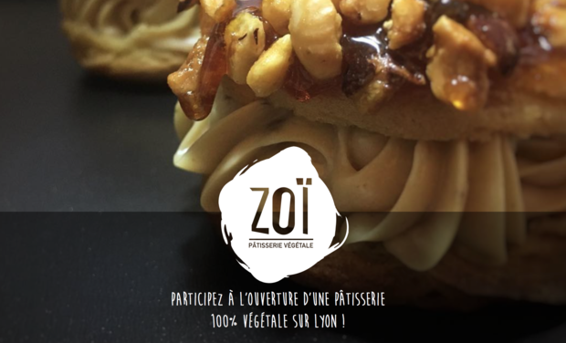 Visuel du projet Zoï : Une pâtisserie 100% végétale sur Lyon !