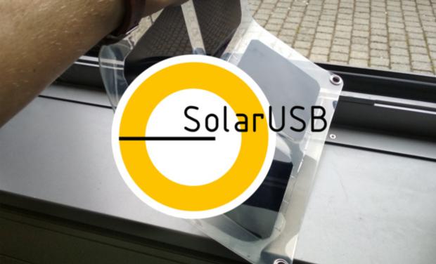 Visuel du projet SolarUSB, un panneau solaire innovant