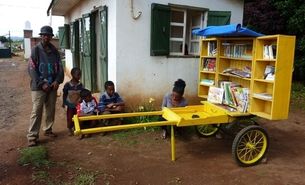 Project visual BiblioPousse à Antsirabe, Madagascar