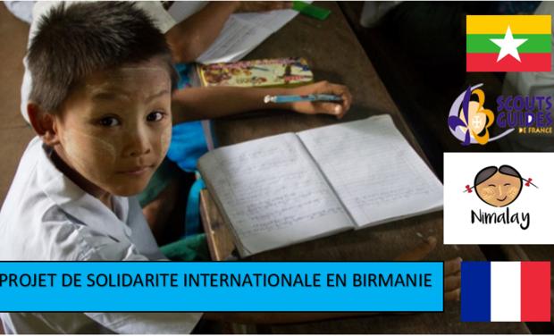 Visueel van project Projet de solidarité en Birmanie