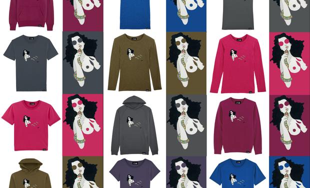 Visuel du projet T-shirt Evelyne Axell en édition limitée et numérotée