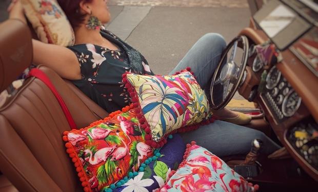 Visuel du projet Alors Là, c'est Le Pompon! création textile de décoration pleine de peps!
