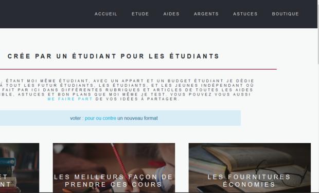 Visuel du projet site internet pour aidez et conseillé tout les étudiants