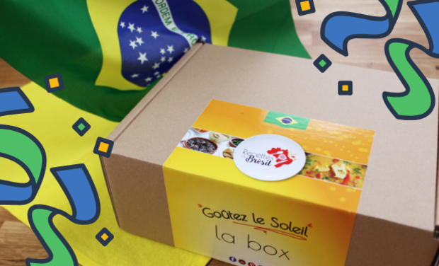 Project visual Recettes du Brésil, la box ensoleillée !