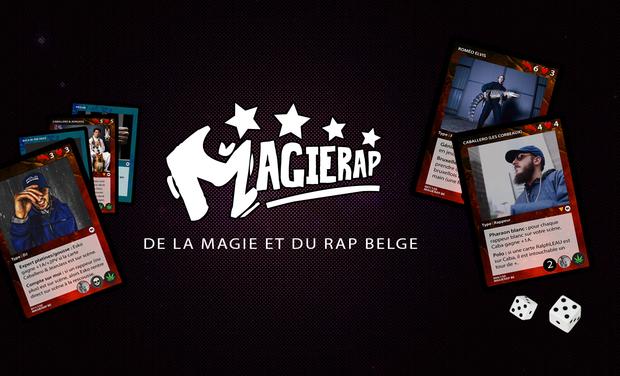 Visuel du projet MAGIERAP : LE PREMIER JEU DE CARTES SUR LE RAP BELGE.
