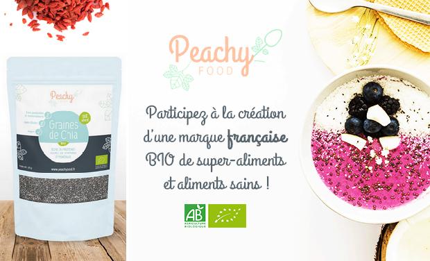 Visuel du projet Peachy Food, marque française BIO de super-aliments